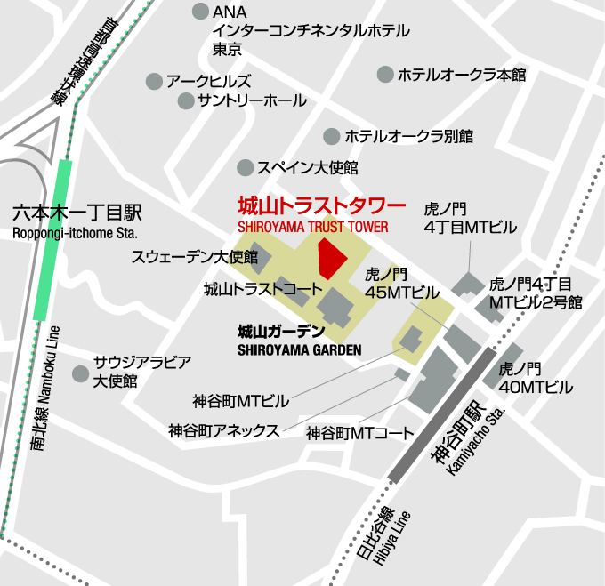 Springer Nature, Japan Office Map
