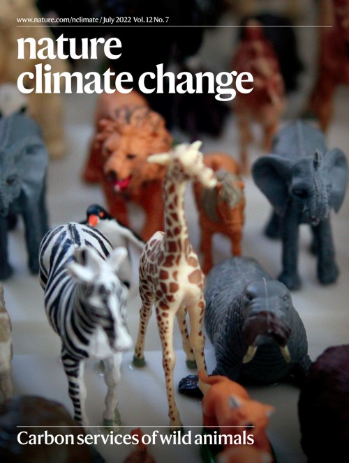 Nature Climate Changeの表紙