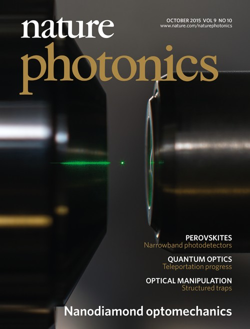 Nature Photonics目次の表紙