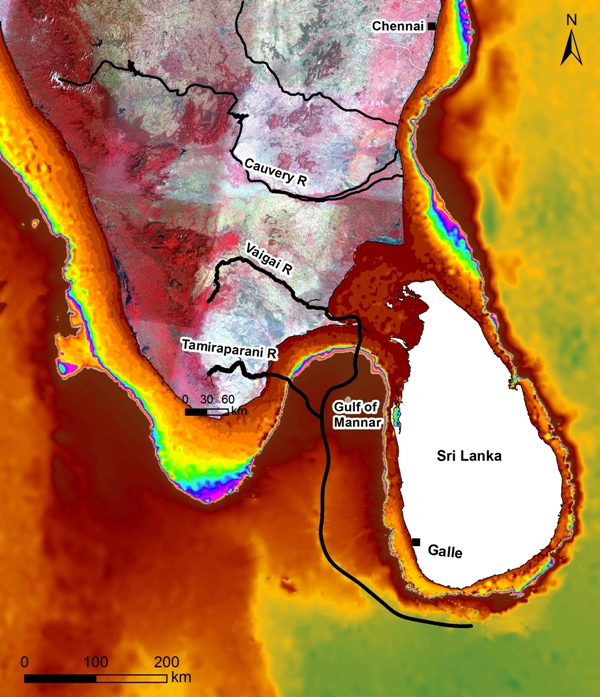 Submerged river systems hint at India-Sri Lanka water links
