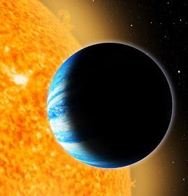 The newly-discovered alien world Qatar-1b orbits an orange type K star 550 light-years from Earth.