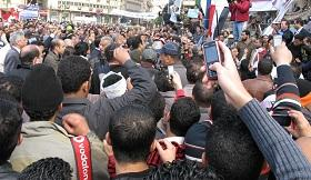 Hundreds of thousands take to the street everyday asking Egyptian President Mubarak to step down.