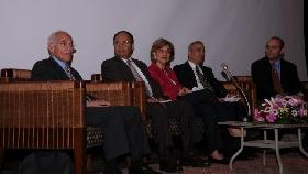 Farouk El-Baz, director of the Center for Remote Sensing at Boston University, was a guest of honour at the Cairo Science Festival 2010.