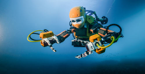 The humanoid robot first swam in 2016.