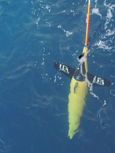 Marine scientists used underwater robots to collect data.