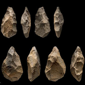 Stone handaxes were found at the site of Saffaqah in Saudi Arabia.