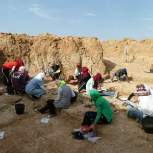 Members of the team excavating at Ain Boucherit.